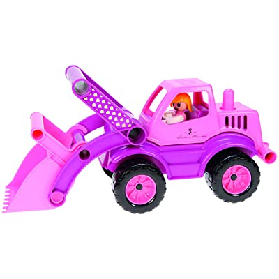 Lena Eco Active Princess Pink Front Loader Truck is a Eco Friendly BPA and Phthalates Free Environment Friendly Biodegradable Green Toy Manufactured from Food Grade Resin and Wood: Clothing