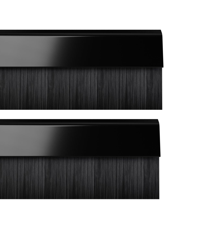 STORMGUARD 02AM0010838BL BDS Cover Clip Bottom of The Door Brush Draught Seal, Black, 838 mm, Set of 2 Pieces Srormguard