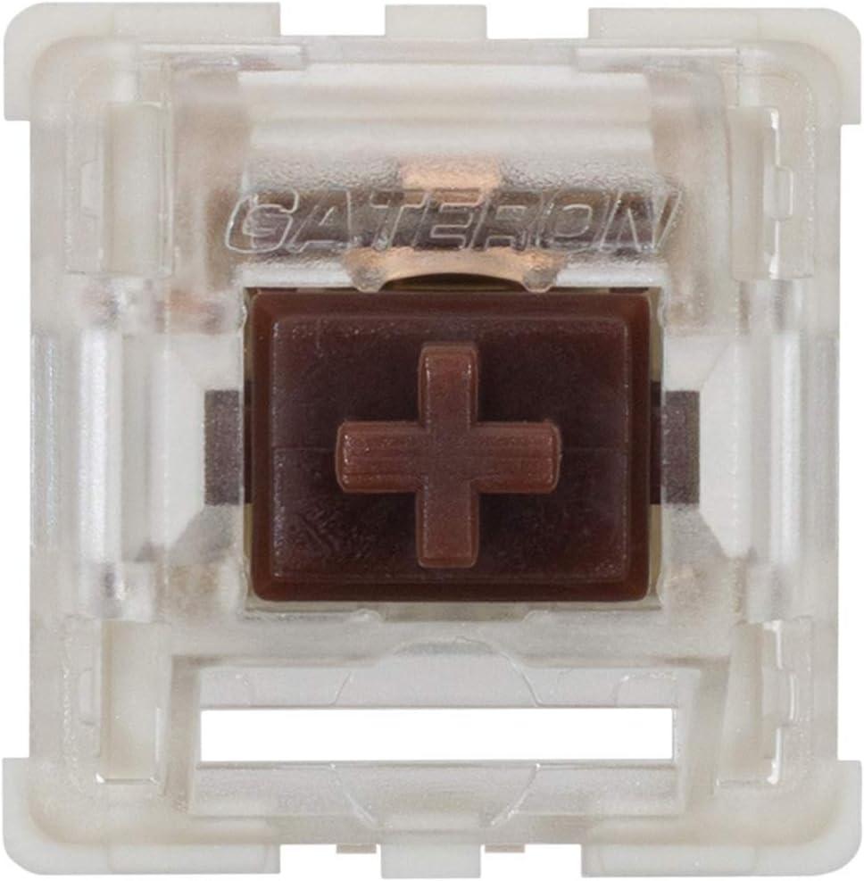 Switches Gateron Brown ks-9 para teclado mecanico (65 un.)