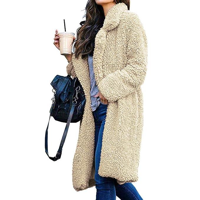 Amazon.com: Chaqueta de mujer de manga larga de piel ...