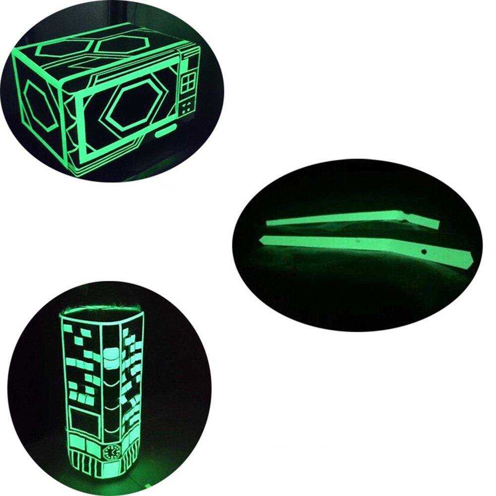30 Feet Length Glow Tape Fluorescent Green Glow Tape in The Dark Glow Time Extended 8-10 Hours Rechargeable Waterproof Sticker
