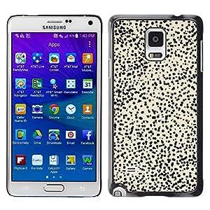 Be Good Phone Accessory // Dura Cáscara cubierta Protectora Caso Carcasa Funda de Protección para Samsung Galaxy Note 4 SM-N910 // Beige Spots Nature Animal Abstract