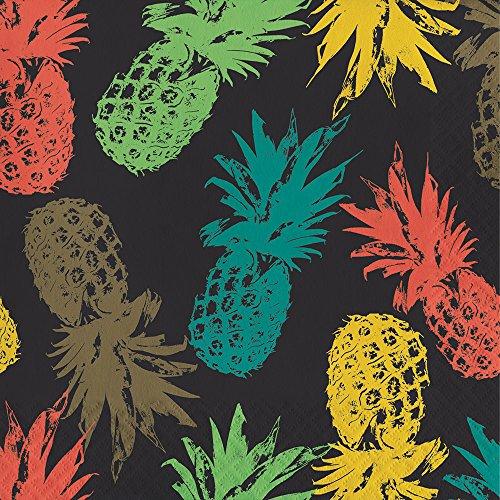 Elise 325063 Havana Pattern 3-Ply Luncheon Paper Napkins, Pina - Hut Havana