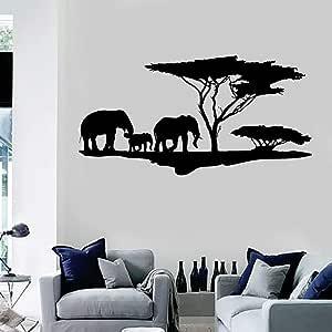 BailongXiao Vinilo Tatuajes de Pared Naturaleza Africana Elefante ...