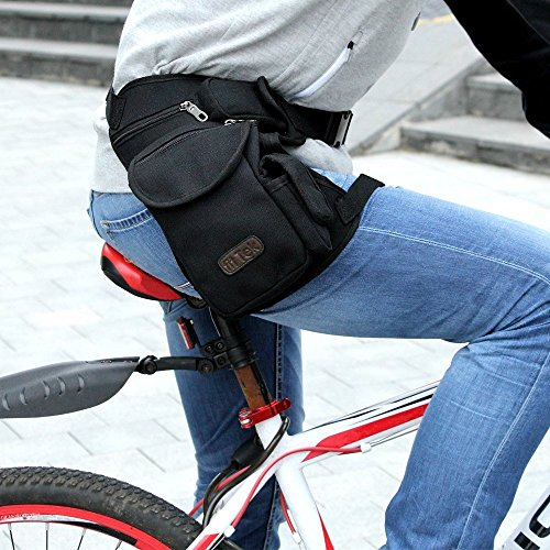 Tactica- Leg Pouches ,fitTek Drop Leg Bag Motorcycle Outdoor Bike Cycling Thigh Tactical Bag Bike Cycling Hip Bag