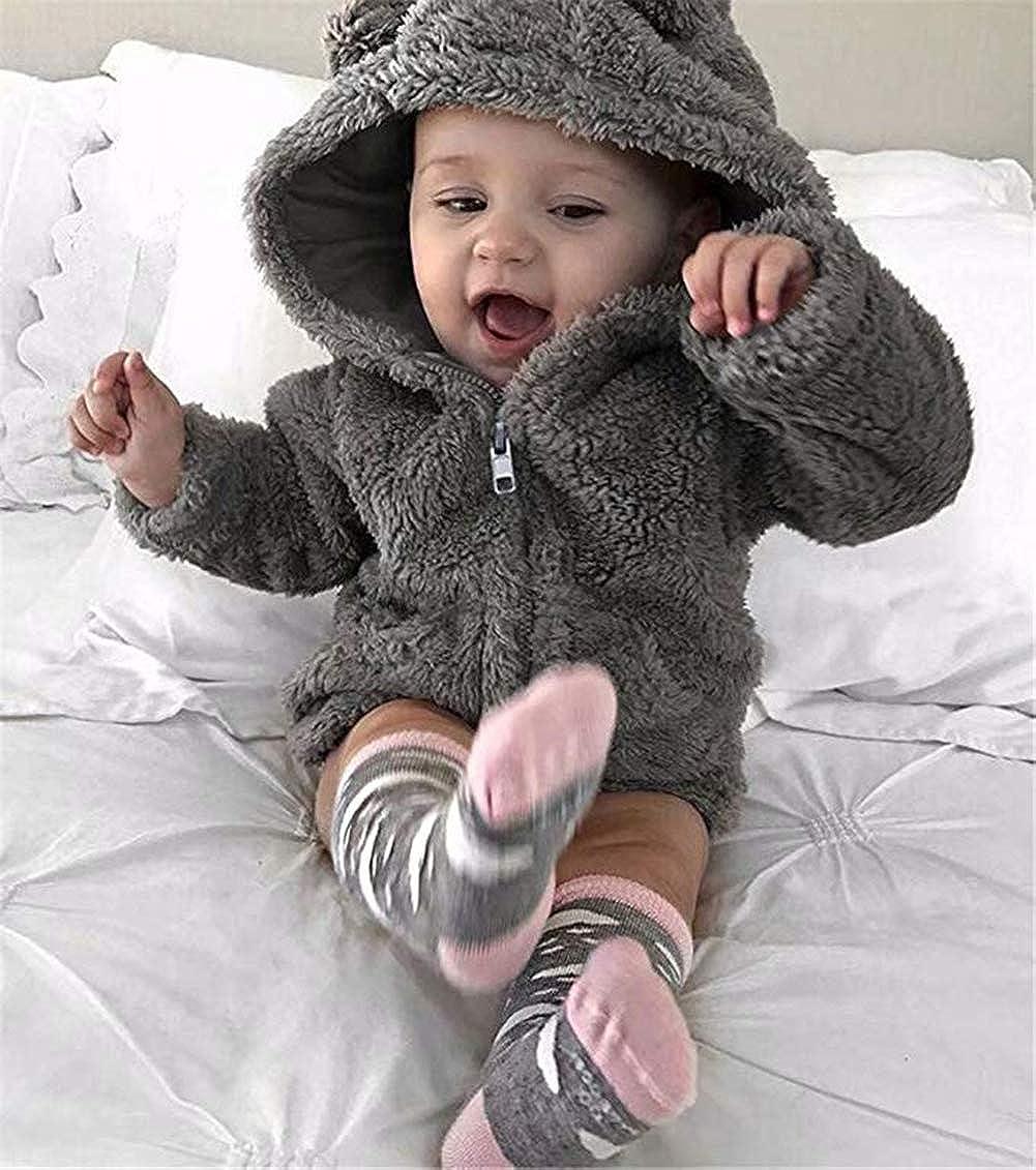 Pollyhb Baby Girls Boys Winter Coat,Baby Cartoon Ears Hooded Thicken Warm Jacket