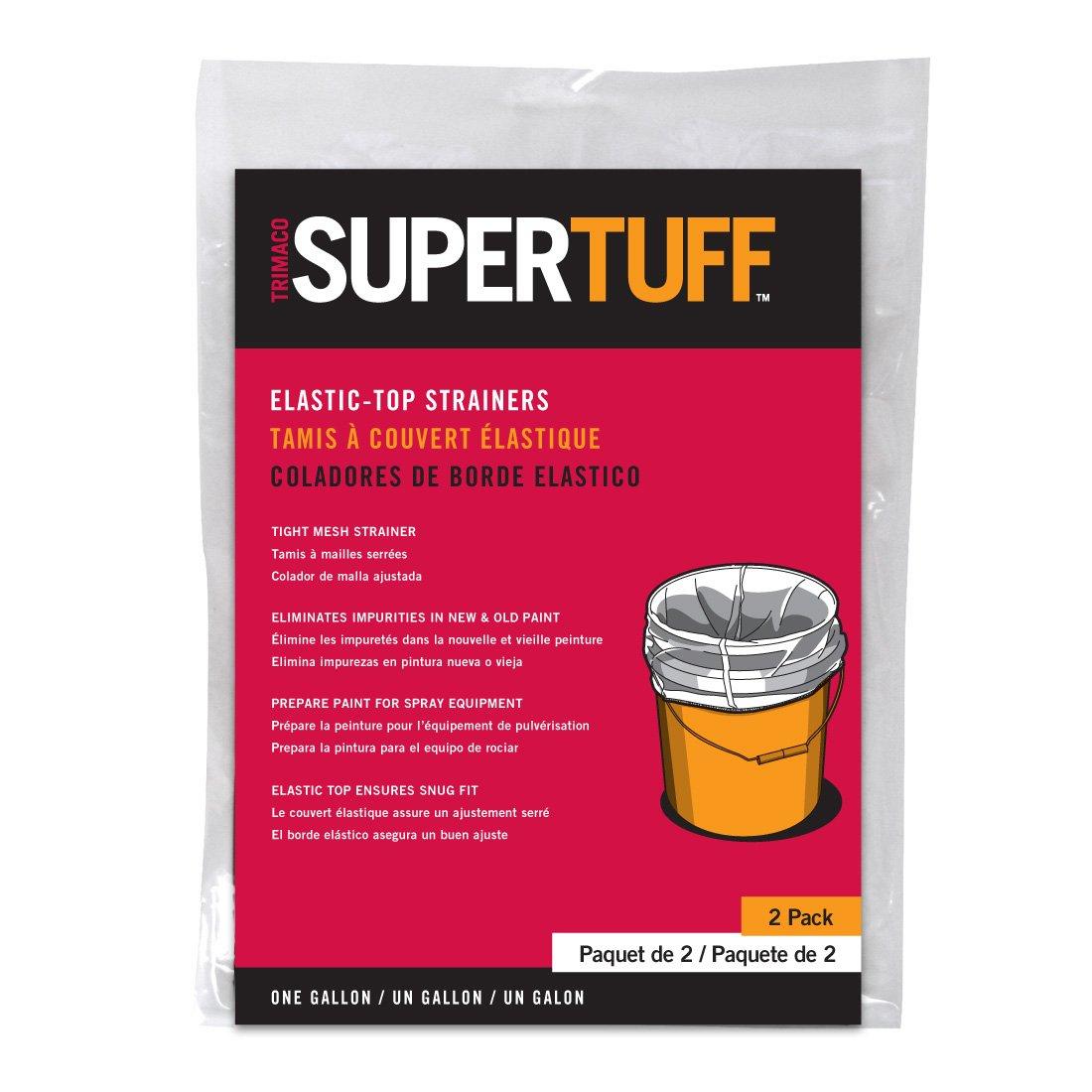 11513//25 5 gallon, 25-Pack Trimaco SuperTuff Regular Mesh//Elastic Top Bag Strainers