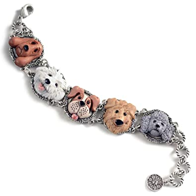 Silver Dog Bracelet, Animal Rescue, Hound, Terrier, Boxer, Retriever, Poodle - Dog Jewelry - Dog Lover Gifts: Shelley Cooper: Amazon.co.uk: Jewellery