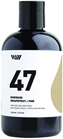 Way Of Will 47 Cleansing Body Wash, Shower Gel, Natural Organic and Suitable for All type of Skin for Men and Women 473 ML 16 FL OZ Energize Grapefruit Pine
