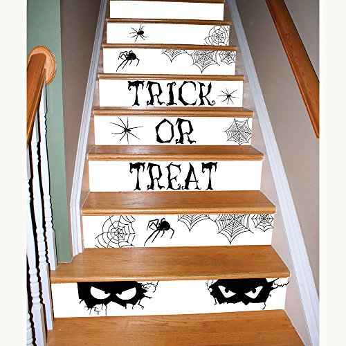 Fun World Watch Your Step Stair Decor Peel And Stick Bloody Spooky Halloween Decorations]()