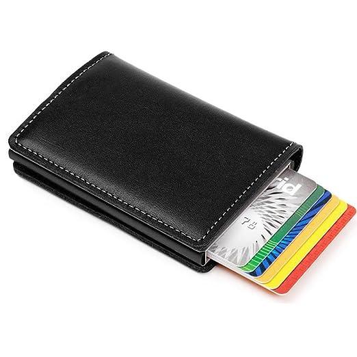 e55007f04eb591 Expandable RFID Credit Card Wallet for Men Minimalist Wallet Leather  Business Holder Slim Front Pocket Wallet