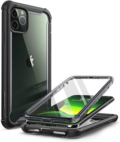 I Blason Transparent Hülle Für Iphone 11 Pro Max 6 5 Bumper Case 360 Grad Handyhülle Robust Schutzhülle Cover Ares Mit Displayschutz Schwarz Elektronik