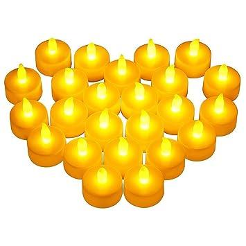 6 Stunden flackernd Kerzen Teelicht mit Batterie 24x LED Teelichter Set