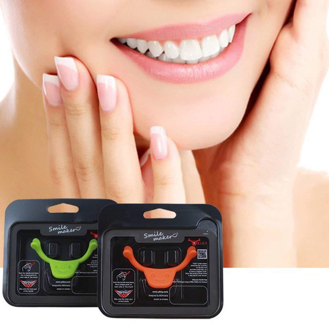 Portable Size Men Women Authentic Charming Smile Braces Mouth Lip Aid Smile Face Training Corrector Face Life Tools Color:Orange