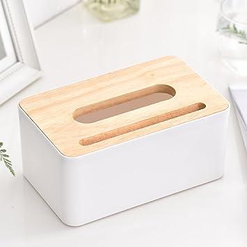 MDRW-Inicio Tapa De Madera Salón Caja De Toallas De Papel Servilleta De Papel Box Alquiler De Caja De Papel B Caja De Almacenamiento De Tejidos: Amazon.es: ...
