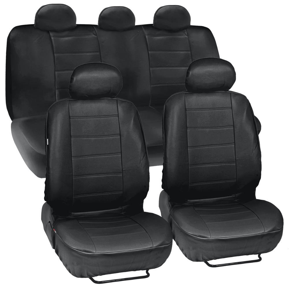 Amazon Black Synthetic Leather Seat Covers For Car SUV Complete Set