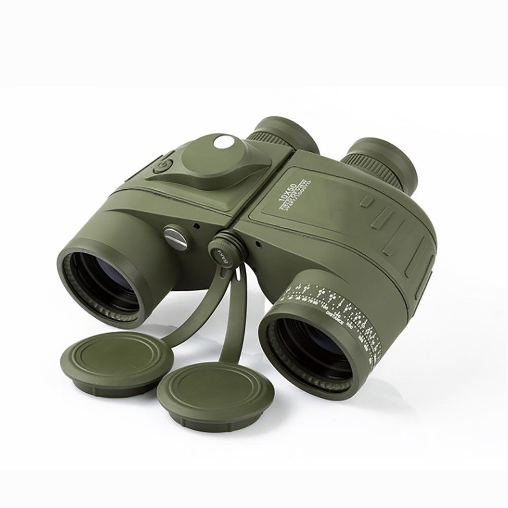 MIAO Outdoor Adult Military Standard High - Definition High Power 10x50 Micro - Light Night Vision Ranging Binoculars with Compass Coordinates