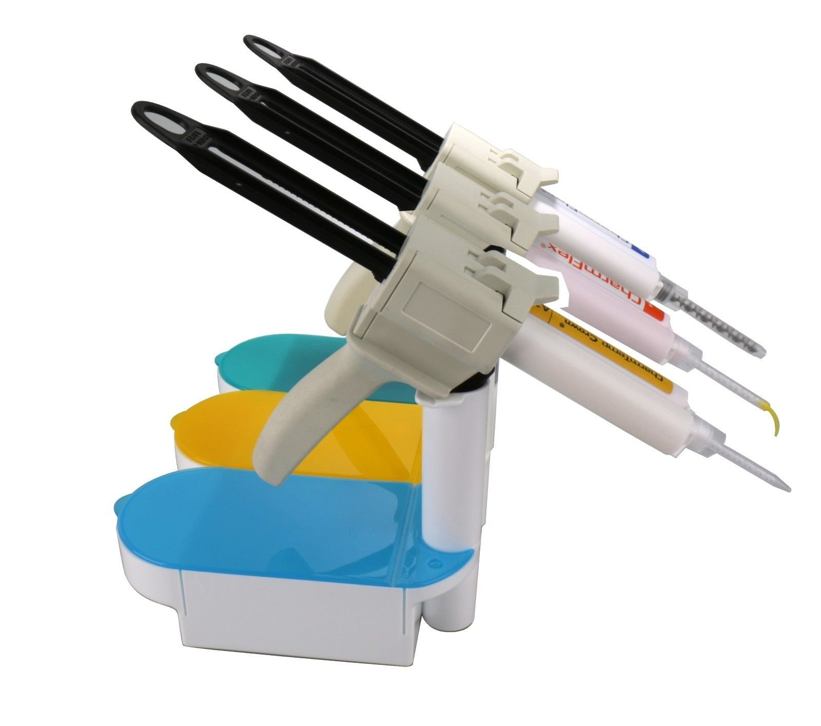 Holder for Dental Impression Dispenser Gun/Dental Mixing Tip/Dental Intra-Oral Tips Organizer