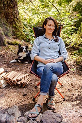 Cascade Mountain Tech Outdoor High Back Lightweight Camp Chair with Headrest and Carry Case - Black