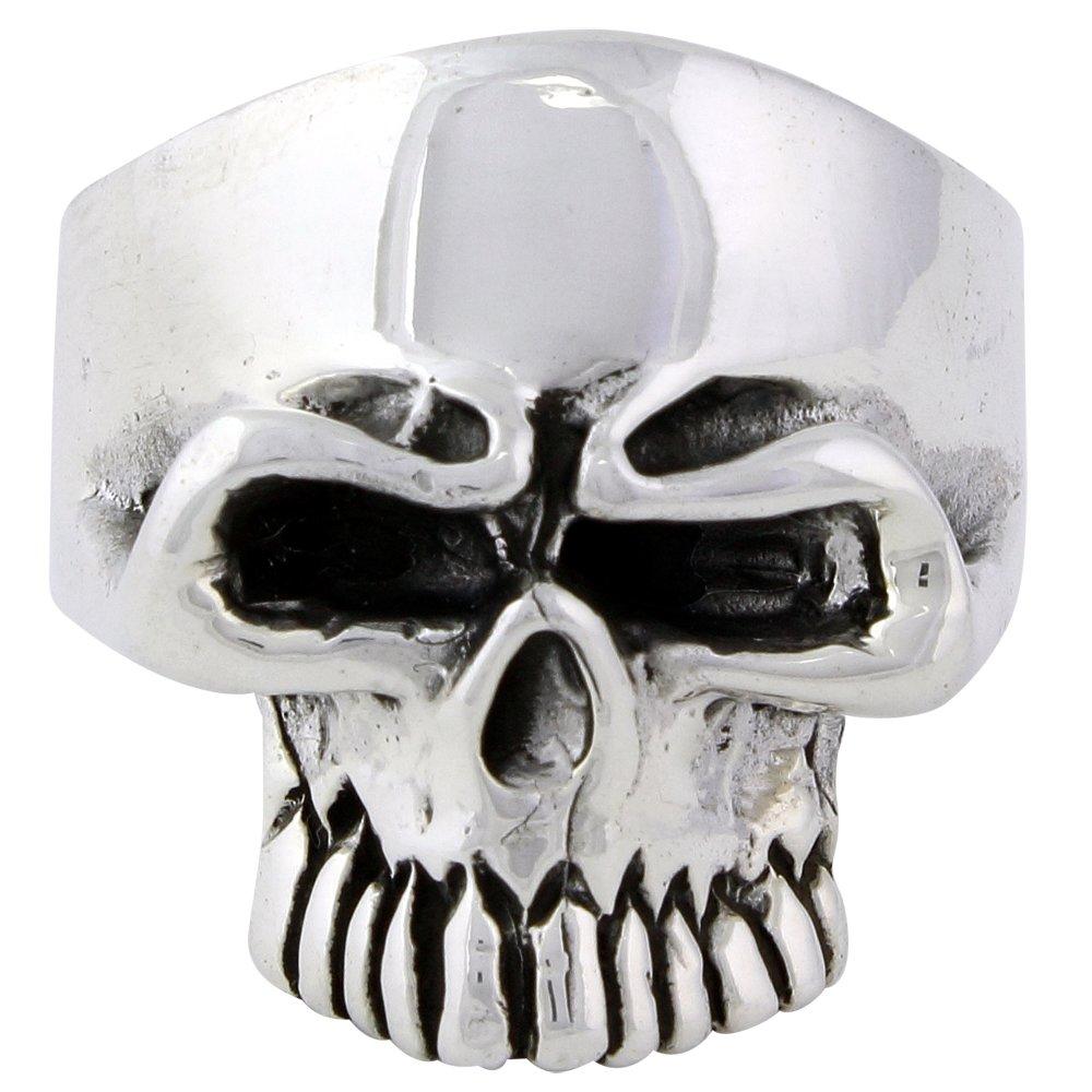 Undertaker Skull Ring Sterling Silver 925 Size 10