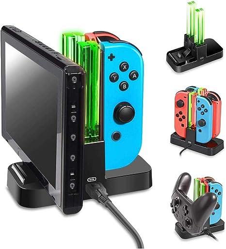 Dobe Soporte de Carga Para Nintendo Joycon, Soporte de Carga de Controlador, Cargador de Controlador Pro Controller con Indicador LED y Cable USB de Tipo C para Nintendo Switch: Amazon.es: Videojuegos