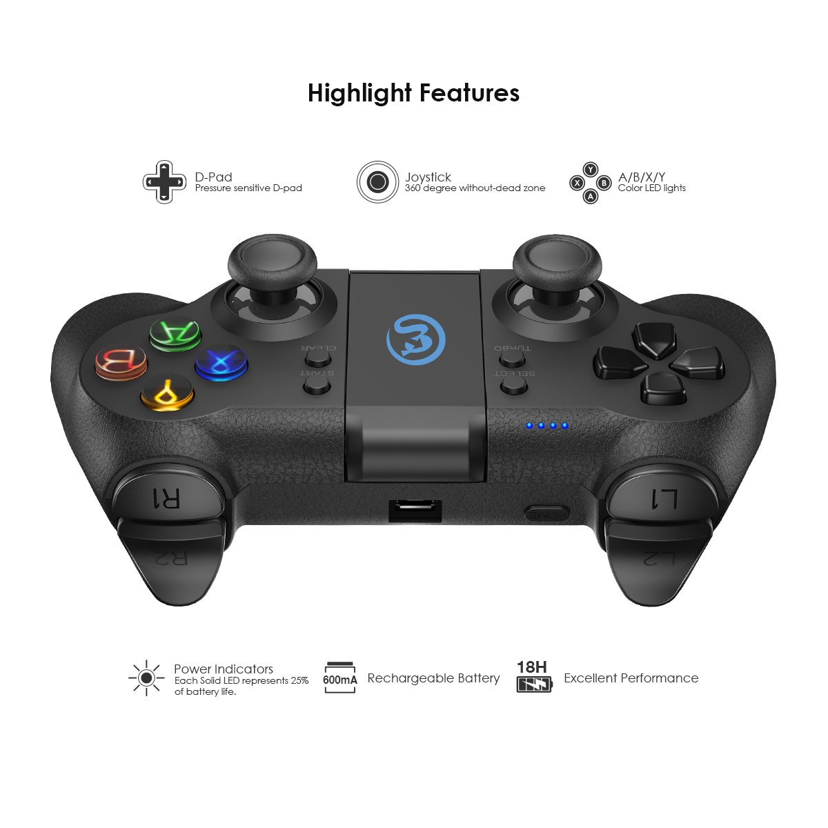 Amazon.com: GameSir T1 Wireless Bluetooth Game Controller for ...