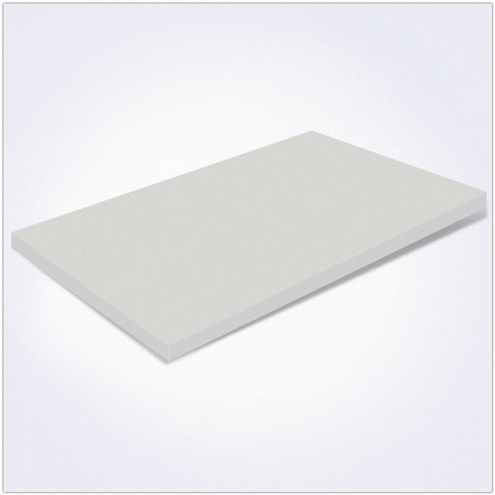 Memory Foam MiaSuite H3 Topper per Materasso con Rivestimento Sfoderabile Singolo 80x190x3 cm Beige