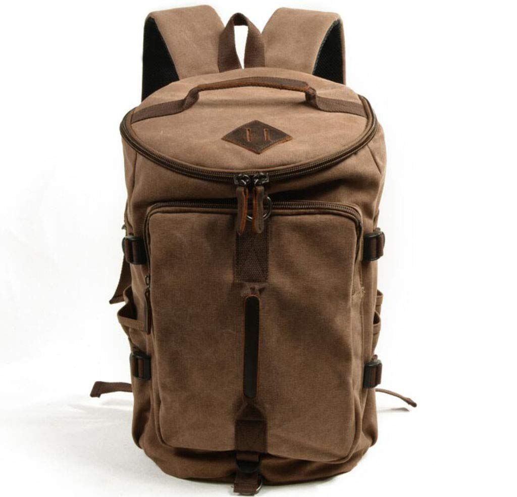 DABUOT 男女兼用 バックパック カジュアル キャンバスバックパック レトロ アウトドア 旅行 登山用バッグ ベージュ 365-081  カーキ B07HR97N73