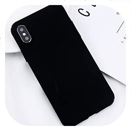 1d46663a4a1 New face for iPhone X Xs Max XR 8 7 Simple Plain Phone Case Slim Frosted  Hard PC Back Cover for iPhone 8 7 6 6S Plus 5 5S SE Cases