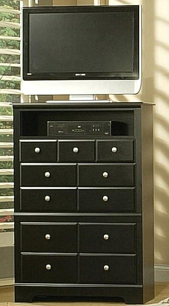 Amazon Com Sandberg Furniture Elena 4 Drawer Tv Chest