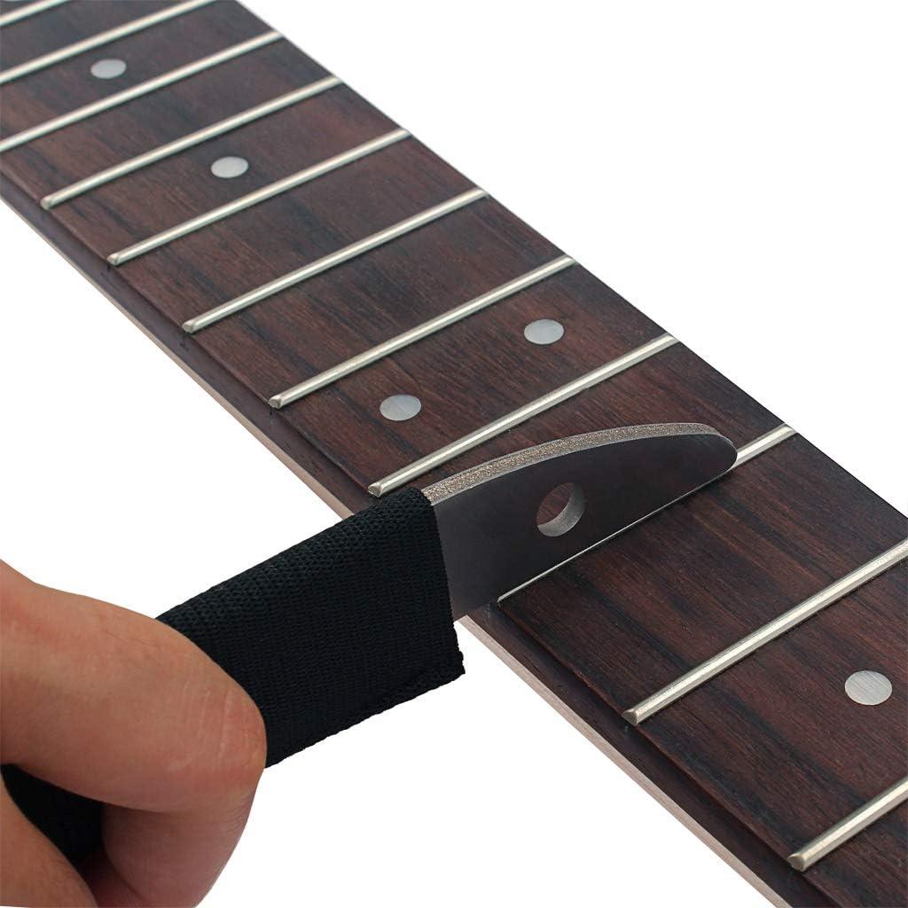 Shiwaki Lima de Pulido de Metal para Trastes de Guitarra Madera 196 mm