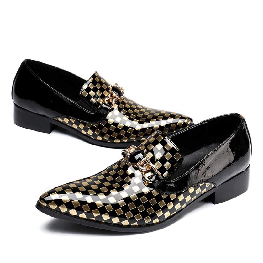 Mr.Zhang's Art Home Männer Schuhe Goldene Spitze Herrenschuhe Sommer atmungsaktiv lässige Herrenschuhe