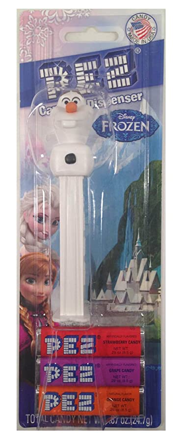 PEZ Candy dispensador: Disney Olaf de Frozen Tarjeta de blíster