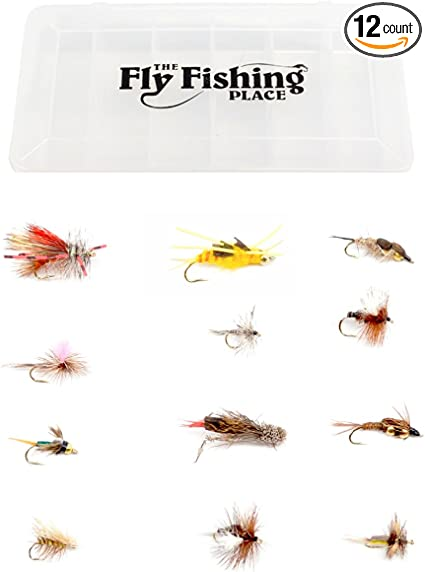 Hand Tied Premium Trout Fishing Flies-Box Included! Assorted Hare/'s Ear Kit
