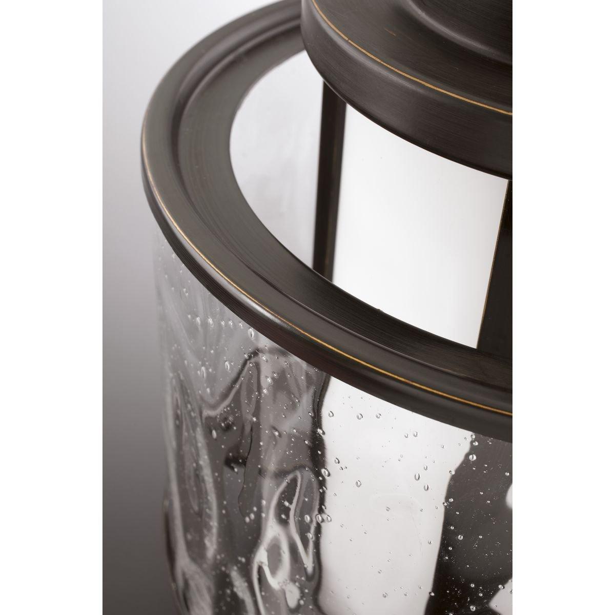 Progress Lighting P5589-09 Bay Court Collection 1-Light Hanging Lantern Brushed Nickel