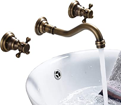 "Rozin Bathroom Basin Faucet 2 Knobs Single Hole Vanity Sink Basin W// 6/"" in Cover"