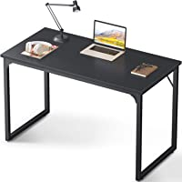 "Coleshome Computer Desk 39"", Modern Simple Style Desk for Home Office, Sturdy Writing Desk,Black"