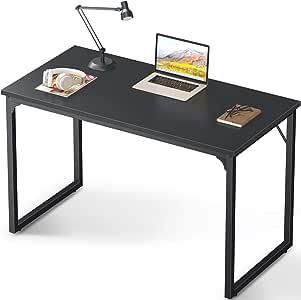 "Coleshome Computer Desk 39"", Modern Simple Style Desk for Home Office, Sturdy Writing Desk,Black"