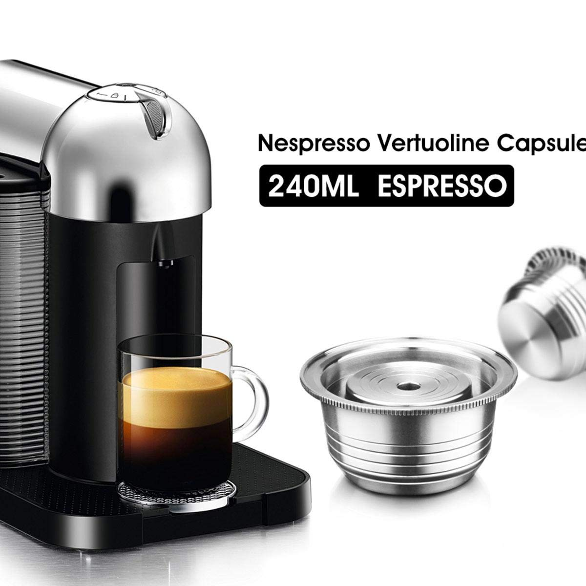 Volwco cápsulas de café Reutilizables para cafetera ...
