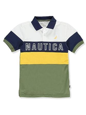 Nautica Niños Manga Corta Camisa Polo - Verde - 24 Meses: Amazon ...