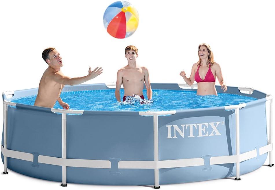 Intex 28711EH - Piscina (Piscina con Anillo Hinchable, Círculo, 6503,337 L, Azul, 6 año(s), Metal): Amazon.es: Juguetes y juegos
