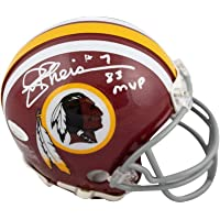 $89 » Joe Theismann 83 MVP Autographed Redskins Mini Football Helmet JSA Gray Facemask