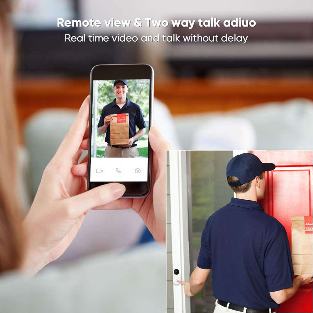 60% discount on Video Doorbell, 960P HD Video, Real-Time 2