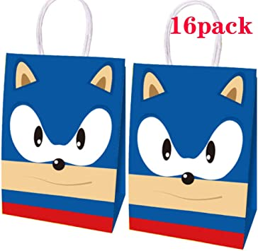 Amazon Com 16 Video Game Party Bag Hedgehog Sonic Party Paper Bag Hedgehog Party S Sonic Gift Bag Child Adult Birthday Party Theme Party Gift Toys Games