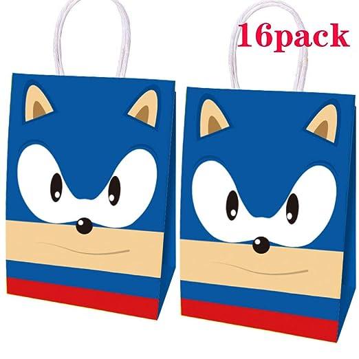 16 bolsas de papel Sonic Inspiration para fiesta, erizo ...