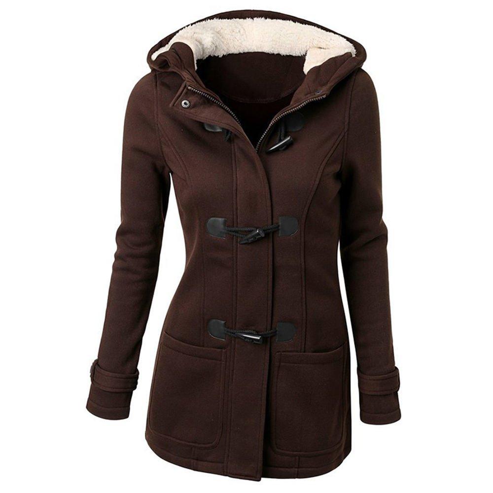 MIOIM Womens Winter Warm Cotton Jacket Hooded Outwear Windproof Coat SAICA*2312380