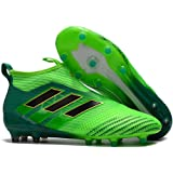 Men's High Ankle Soccer Shoes Adidas Ace 17+ Purecontrol FG Green