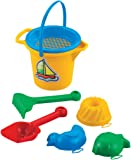 Kleines Sandset 7 tlg. Eimer Förmchen Sieb Strandset Strandspielzeug Spielzeug Sandspielzeug Kinderspielzeug Harke Schaufel Sandkasten Kinder Strand Sand Sandkasten