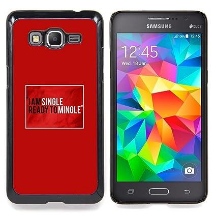 Single Ready Mingle Quote Funny Love Slim Guard Armor Phone Case