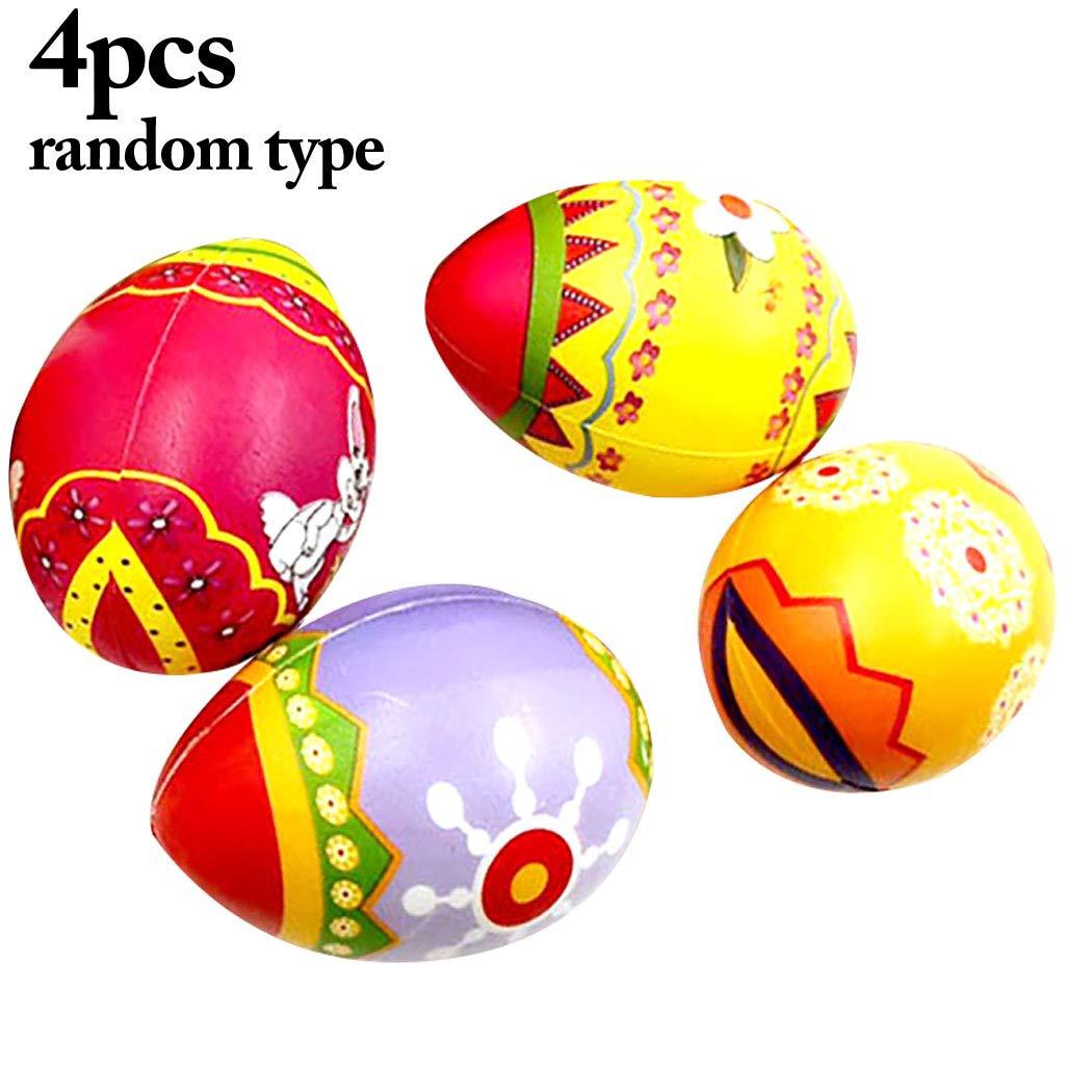 Joyibay 4 Piezas Juguete De Pascua Blando Forma Creativa del Huevo Juguete De Levantamiento Lento (Color Aleatorio)